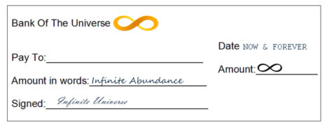 Abundance Cheques For The New Moon Cycles