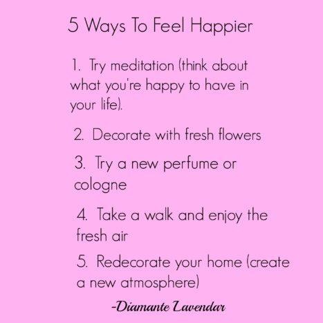 Five Ways To Feel Happier