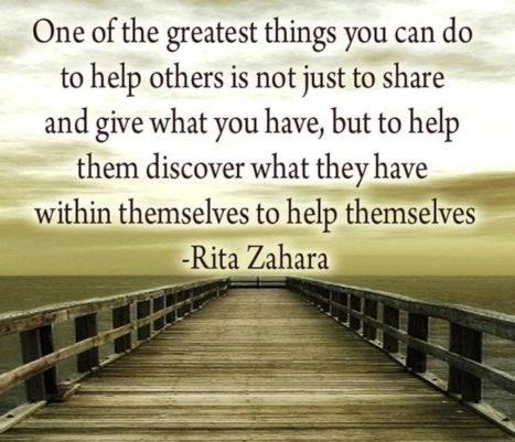 Empowering VS Helping