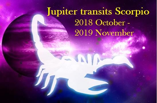 JUPITER Transit In Scorpio till 5th November 2019