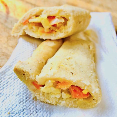 Delicious Spicy Corn Flour Bell Pepper Empanadas